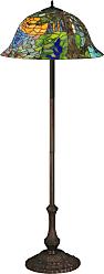 Meyda 37027 Tiffany Landscape Floor Lamp in Mahogany Bronze finish