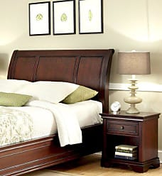 Home Styles Lafayette Cherry King/California King Sleigh Headboard & Night Stand by Home Styles