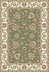 Dynamic Rugs AN1215573654464 Ancient Garden Collection Area Rug 12 x 15 Green/Ivory