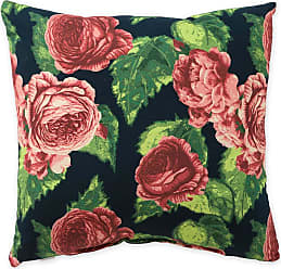 Jordan Manufacturing Company 22 Square Weather-Resistant Outdoor Throw Pillow, in Cabbage Rose