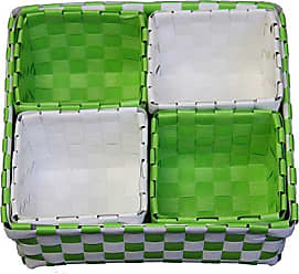 Ore International ORE International FP2321/5 Polypropylene Trays, 2.75-Inch, Green/White, Set of 5