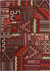 Nain Trading Tapis Dorient Kilim Patchwork 232x160 Marron Foncé/Rouge  (Laine, Perse/