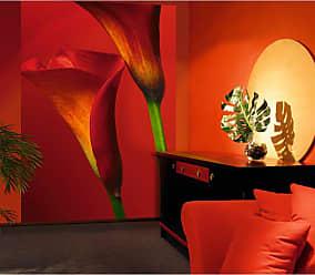 Ideal Decor Red Calla Lilies Wall Mural - DM406
