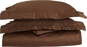 Home City Inc. Superior 1500 Thread Count 100% Egyptian Cotton, Single Ply, King/California King Duvet Cover Set, Solid, Mocha