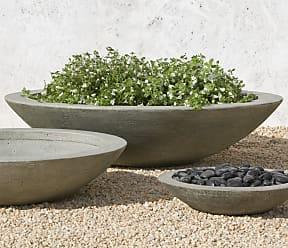 Campania International Small Low Zen Cast Stone Planting Bowl Ferro Rustico Nuovo