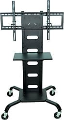 OFFEX Mobile Flat Panel Stand, Black