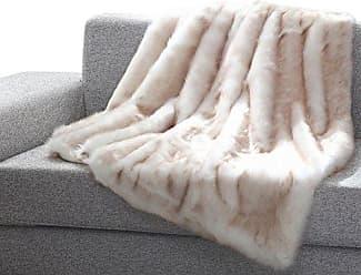 Ben&Jonah Ben & Jonah Into The Wild Heavy Faux Fur Throw Blanket, 50 x 60