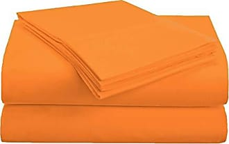 Home City Inc. Superior 1500 Series Premium Quality 100% Brushed Soft Microfiber 3-Piece Luxury Deep Pocket Cooling Bed Sheet Set, Hypoallergenic, Wrinkle and Stain Resistant - Twin, Orange