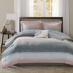 Madison Park LAF02-0099 Saben Complete Comforter and Cotton Sheet Set Blush Twin