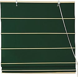 Oriental Furniture Cotton Roman Shades - Dark Green - (60 in. x 72 in.)