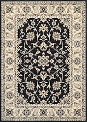 Couristan Everest Collection Rosetta Rug, 2 by 3-Feet, Ebony