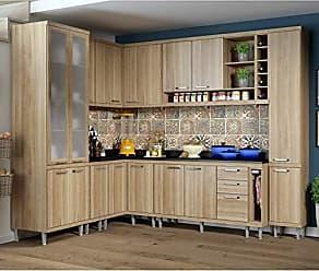 Multimóveis Cozinha Completa com Balcão com Tampo 11 Peças 16 Portas Sicília Multimóveis Argila