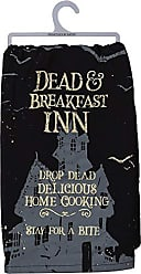 Primitives By Kathy Halloween Dish Towel, 28 x 28-Inch, Dead & Breakfast