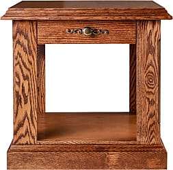 Forest Designs Traditional End Table Unfinished Alder, Size: 20 in. - 2115- TC-20H-UA
