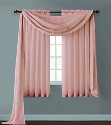 VCNY Home VCNY INF-PNL-5563-IN-OI Infinity Sheer Panel, 55 by 63-Inch, Coral