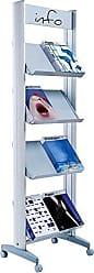 Paperflow EasyDisplays Single-Sided Literature Display, Metal Shelves, Medium, 19.75 x 66 x 15 (8.A4TM.35)