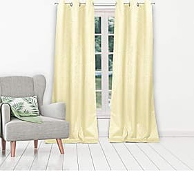 Duck River Textile Jax Linen Textured Foam Back Grommet Top Window Curtains for Living Room & Bedroom - Assorted Colors - Set of 2 Panels (38 X 84 Inch - Ivory)