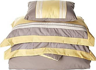 Chic Home 4 Piece Madison Hotel Collection Duvet Cover Set Shams and Decorative Pillows, King, Yellow