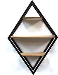 Stratton Home Decor Stratton Home Décor Stratton Home Diamond Decor Shelf Wall Décor, 17.75 W X 6.75 D X 26.00 H, Natural Wood, Black