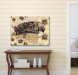 Portfolio Canvas Decor Portfolio Canvas Decor Portfolio Décor Canvas Print Wall Art-Silo Pig Gold by IHD Studio Stretched and Wrapped, Ready to Hang-22x28, 22x28