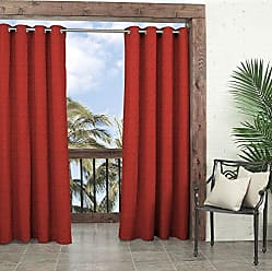 Ellery Homestyles Parasol 14025052084CHL Key Largo 52-Inch by 84-Inch Indoor / Outdoor Single Curtain Panel, Chili