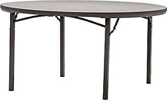 Dorel Home Products Cosco 60445PRM1E Commercial Round Heavy Duty Blow Mold Banquet Folding Table, 5, Brown