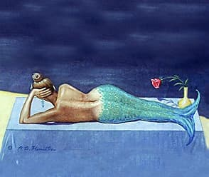 Betsy Drake CT073 Mermaid Coaster, Set of 4