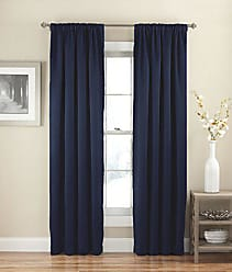 Ellery Homestyles Eclipse 15061054X084NVY 54-Inch by 84-Inch Solid Single Curtain Thermapanel, Navy