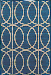 Linon Linon Claremont Collection Links Gray Synthetic Rugs, 8x102, Blue