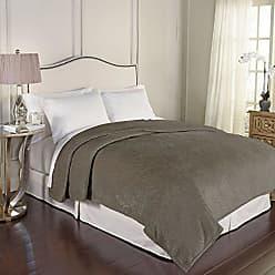 Ellery Homestyles Beautyrest 16928BEDDKNGDMR Bernadine Warming Technology Blanket, King, Dark Mushroom