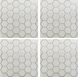 RoomMates White Hexagon StickTILES Wall Decals - Set of 4 - TIL3458FLT