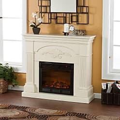 Southern Enterprises Sicilian Harvest Ivory Electric Fireplace - FE9275