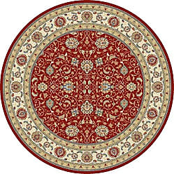 Dynamic Rugs ANR5575591464 Ancient Garden Collection Area Rug, 53 Round, Red/Ivory