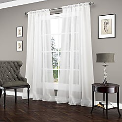 Ellery Homestyles Vue Signature 14894052095WHI Carrington 52-Inch by 95-Inch Luxury Single Window Sheer, White