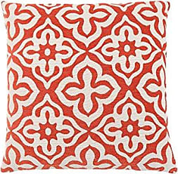 Monarch Specialties Motif Design 18 x 18 Orange 1 Piece Pillow