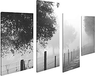 Art Maison Canada Landscape Photography Print Winter Walk Giclee Gallery Wrapped Canvas Wall Art |Modern Décor for Home and Office | Ready to Hang |Set of 4(12x24INCHx2pcs+12x18INCHx2pcs)