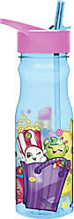 Zak designs SHPC-P280 Water Bottles, Tritan Straw, Shopkins