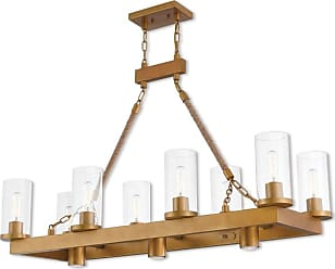 Livex Lighting 41068 Metuchen 3 Light 15 Wide Linear Chandelier with