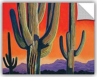 ArtWall Rick Kerstens Saguaro Dawn Removable Wall Art, 14 x 18