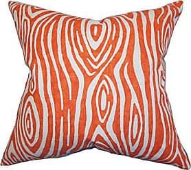 The Pillow Collection Thirza Swirls Bedding Sham Tangerine Standard/20 x 26