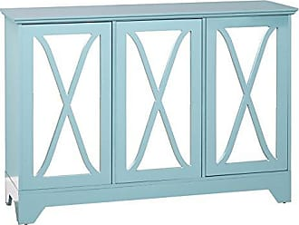 Target Marketing Systems 31552BLU Reflections Buffet/Console with Mirror, Blue
