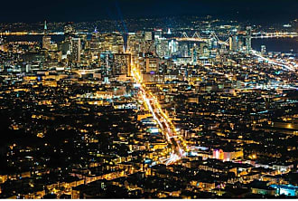 Noir Gallery Night View of San Francisco on Aluminum - SF-10-MP-08