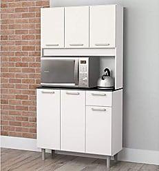 Zanzini Móveis Armário de Cozinha 6 Portas 1 Gaveta Pop Zanzini Branco Lacca