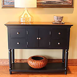Decor Therapy FR8452 Taylor Four Drawer Console Table, Black