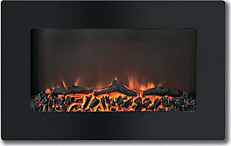 Cambridge Silversmiths Callisto 30 In. Wall-Mount Electronic Fireplace with Flat-Panel and Realistic Logs