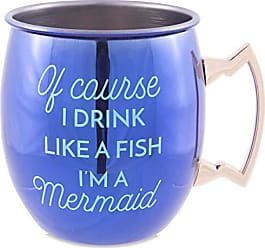 Pavilion Gift Company 66575 Pavilion-of Course I Drink Life A Fish Im A Mermaid-20 Oz Shiny Stainless Moscow Mule 20 oz Purple