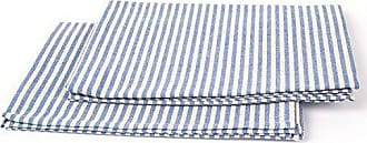 LinenMe Jazz X2 Tea Towels, 19 by 28-Inch, Blue Striped