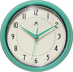 Infinity Instruments Round Retro 9.5 in. Wall Clock - 15512IRON-1263