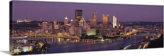 Great Big Canvas Pittsburgh Cityscape Canvas Wall Art Print - 77688_24_36X12_NONE