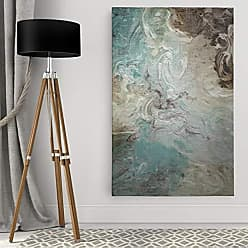 WEXFORD HOME Porch & Den Aqua Marble Gallery Wrapped Canvas Wall Art, 18x27